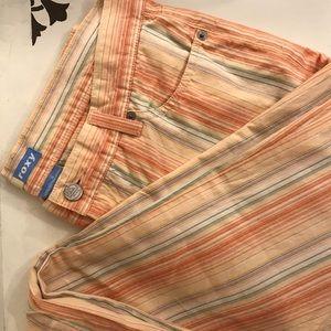Pastel Vertical Stripe 100% Cotton Roxy Pants